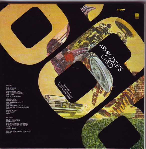 Bonus Replica 3rd issue 666 Gatefold Sleeve Back [Disk Union Only], Aphrodite's Child - 666