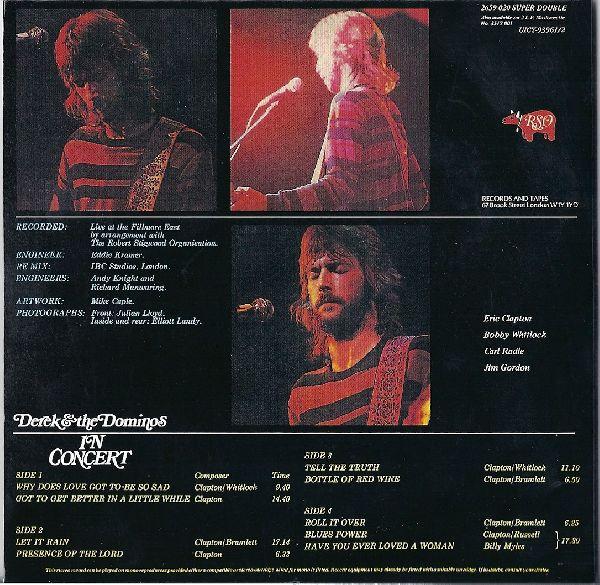 backcover, Derek + The Dominos - In Concert
