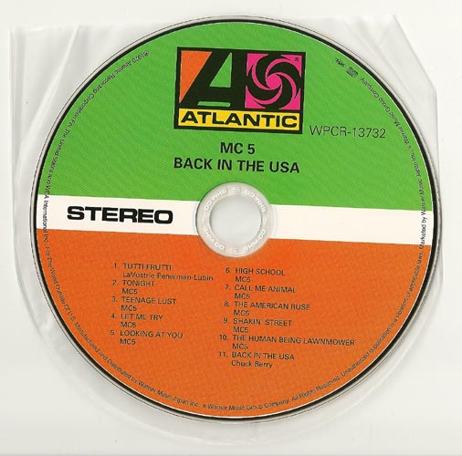 CD, MC5 - Back In The USA