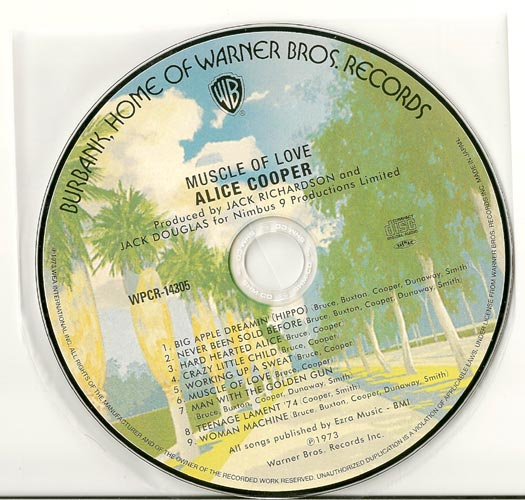 CD, Cooper, Alice - Muscle Of Love