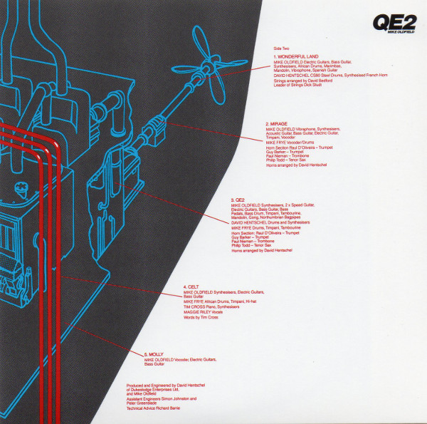 Inner Sleeve side 2, Mike Oldfield - Q.E.2 Deluxe Edition