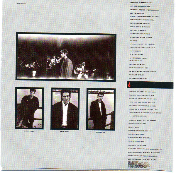 Front inner sleeve, Adams, Bryan - Into The Fire (+3)