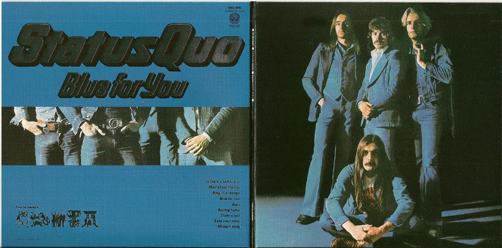 Gatefold outside view, Status Quo - Blue For You +5