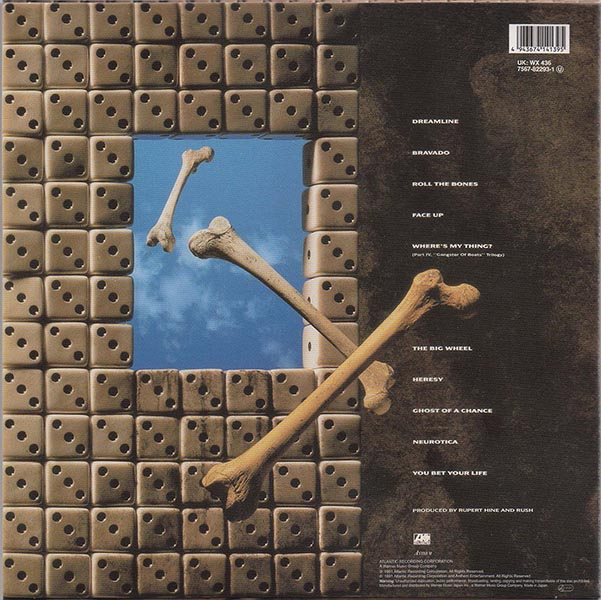 back cover, Rush - Roll The Bones