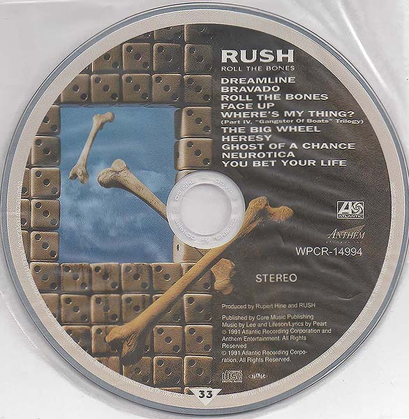 disc, Rush - Roll The Bones