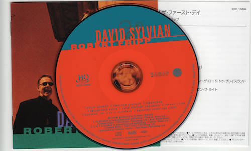 CD & Japanese and English Booklets, Sylvian, David & Fripp, Robert - The First Day
