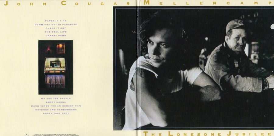 Outside gatefold sleeve, Cougar Mellencamp, John - The Lonesome Jubilee