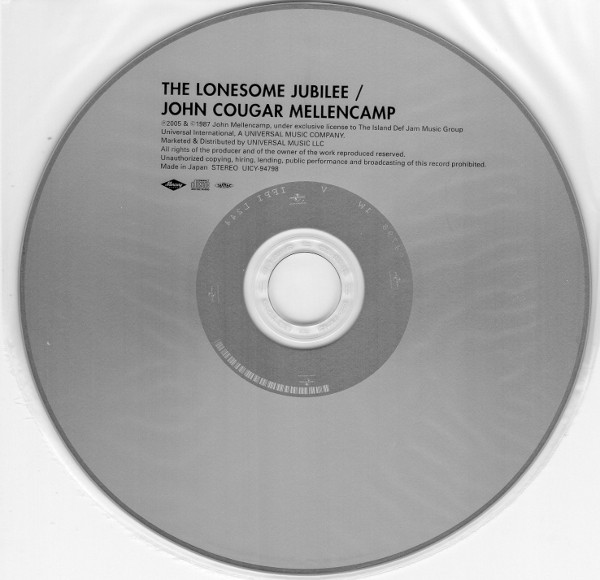 Cd, Cougar Mellencamp, John - The Lonesome Jubilee
