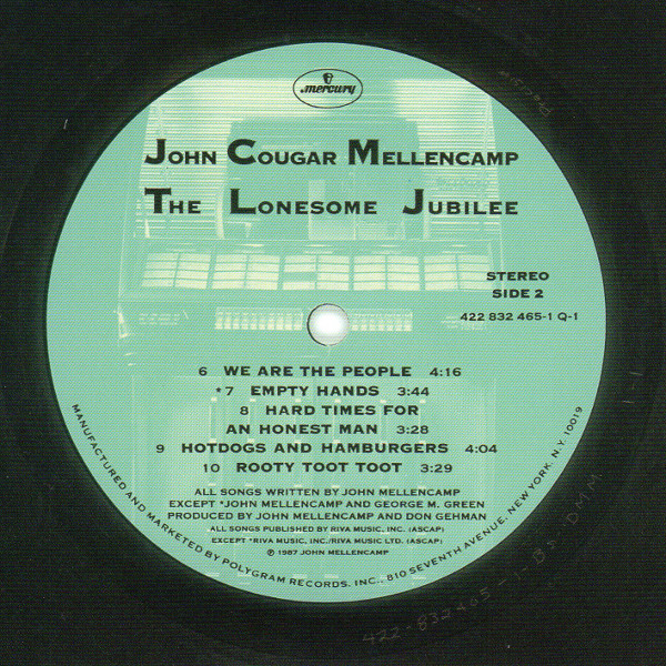 Serial numbered card, Cougar Mellencamp, John - The Lonesome Jubilee