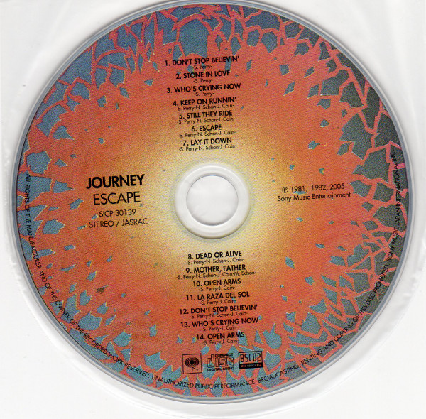 Cd, Journey - Escape