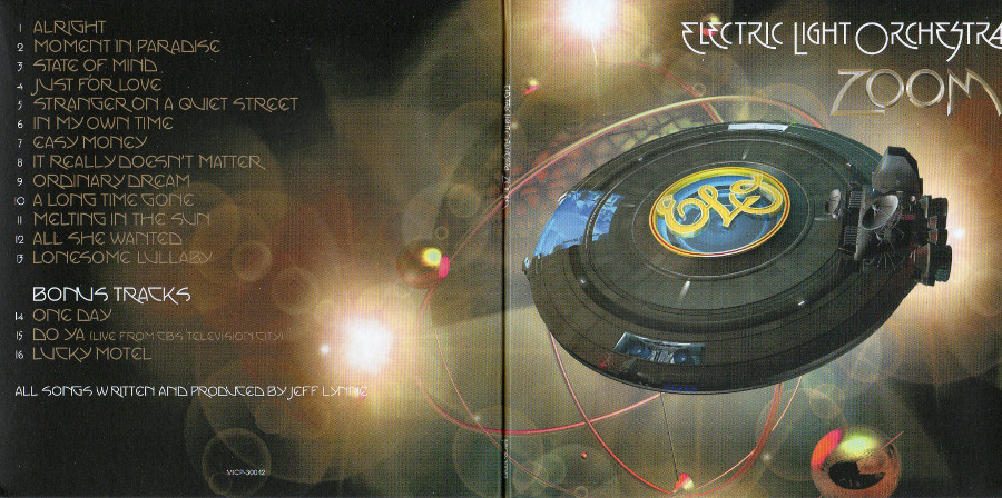 Front gatefold sleeve, Electric Light Orchestra - Zoom + 3 bonus tracks