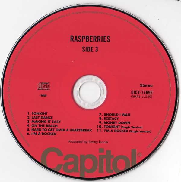 Cd, Raspberries - Side 3