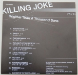 Killing Joke - Brighter Than A Thousand Suns, Lyric book