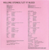Rolling Stones (The) - Let It Bleed, Inner Sleeve