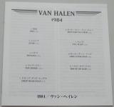 Van Halen - 1984, Lyric book