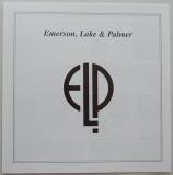 Emerson, Lake + Palmer - Emerson, Lake and Palmer, Insert