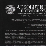 Absolute Elsewhere - In Search Of Ancient Gods, Japanese Info Sheet