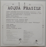 Acqua Fragile - Acqua Fragile, Inner sleeve side B