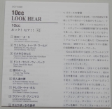 10cc - Look Hear, Lyric book