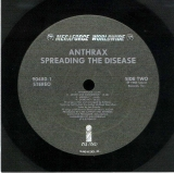 Anthrax - Spreading The Disease, Side Two Vinyl Sticker