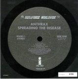 Anthrax - Spreading The Disease, Side One Vinyl Sticker