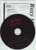 Roxy Music - Avalon, CD & lyric sheet