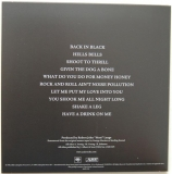 AC/DC - Back In Black, Back cover