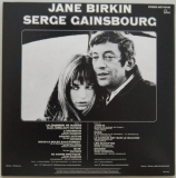Gainsbourg, Serge + Jane Birkin - Jane Birkin et Serge Gainsbourg, Back cover