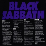 Black Sabbath : Master of Reality : Back cover wo/Obi