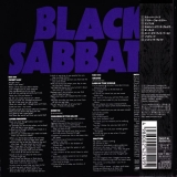 Black Sabbath : Master of Reality : Back cover w/Obi