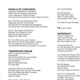 Black Sabbath : Vol.4 : Lyric sheet