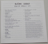 Bjork - Debut +2, Lyric book