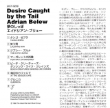 Belew, Adrian - Desire Caught By The Tail, Insert