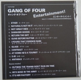 Gang Of Four - Entertainment, Lyric book