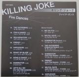 Killing Joke - Fire Dances, Lyric book