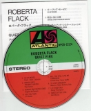 Flack, Roberta : Quiet Fire : CD & Japanese booklet
