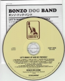Bonzo Dog Band : Let's Make Up And Be Friendly + 5 : CD & Japanese insert