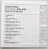 Cohen, Leonard - Songs of Love and Hate +1, Lyric sheet
