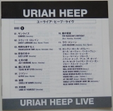 Uriah Heep - Live, Lyric book
