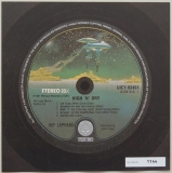 Def Leppard - High 'n' Dry, Front Label (numbered)