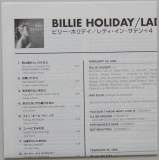 Holiday, Billie - Lady In Satin, Lyric book