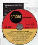 Walker, Scott : Looking Back With +13 : CD & Japanese booklet