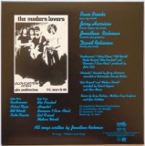 Modern Lovers (The) - The Modern Lovers, Back Cover