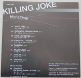 Killing Joke - Night Time, Lyric book