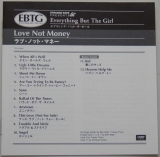 Everything But The Girl - Love Not Money, Lyric book