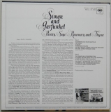 Simon + Garfunkel - Parsley, Sage, Rosemary and Thyme, Back cover