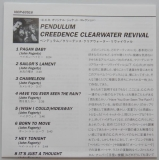 Creedence Clearwater Revival - Pendulum, Lyric Book