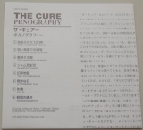 Cure (The) - Pornography , Lyric book