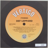 Def Leppard - Pyromania , Front Label (numbered)