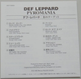 Def Leppard - Pyromania , Lyric book